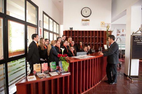 Archidona, Испания: Hall del Hotel Aula de Prácticas del Curso Jefe/a de Recepción