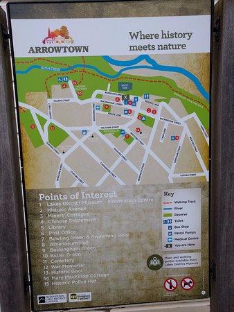 Arrowtown, Nova Zelândia: Town Map