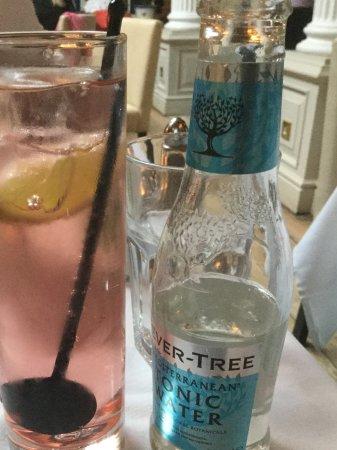Osborne House: Rhubarb Gin (Edinburgh Gin) and Mediteranean Fever Tree tonic