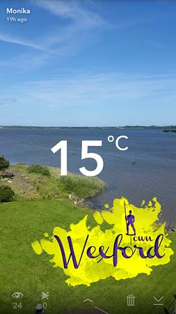 Ferrycarrig, Irlanda: view from our balcony