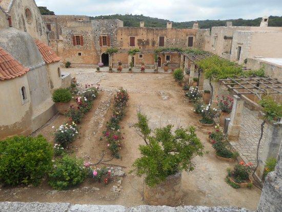 Rethymnon, Greece: Een overzicht van de tuin