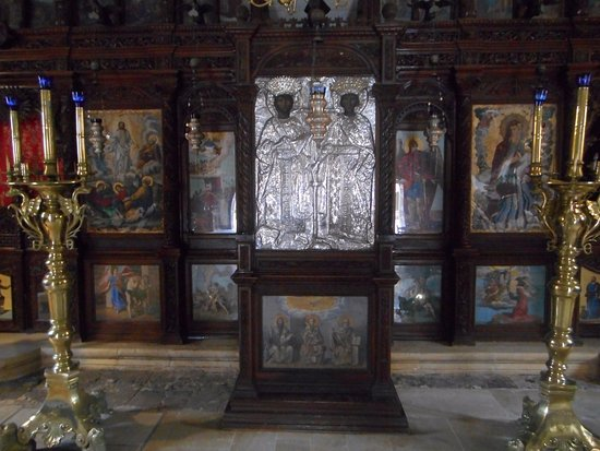 Rethymnon, Greece: Iconen en mooi zilverwerk.