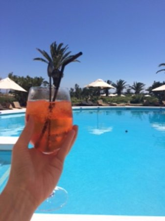 Hotel Ta' Cenc: Orange goes well with these shades of blue ;)
