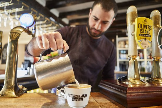 Thame, UK: The Six Bells - Coffee