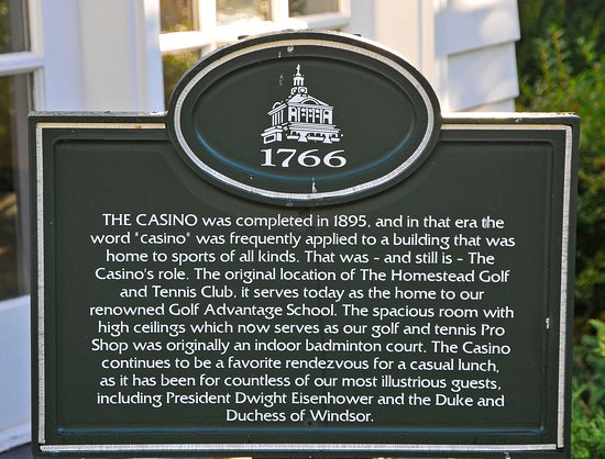 Hot Springs, VA: Information on the Casino