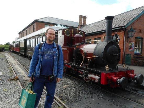 Talyllyn Railway: Me with No 2 Dolgoch at Tywyn.