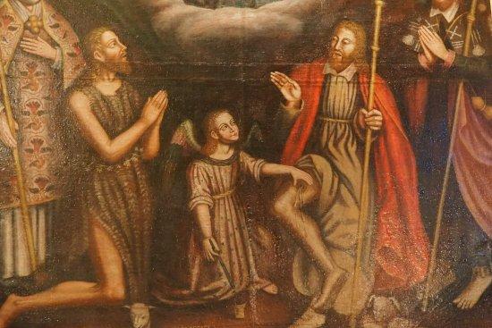 Eglise Heptagonale Sainte Marie : Tableau avec St Roch guérisseur