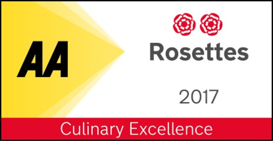 Fig: 2 AA Rosette award for culinary excellence