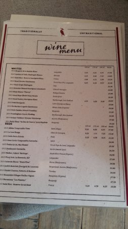 Litton, UK: Wine list