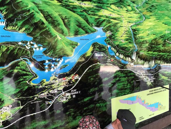 mappa laghi inferiori  Picture of Plitvice Lakes National Park