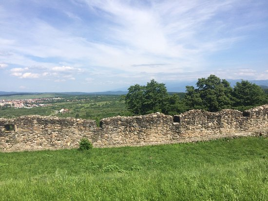Cisnadioara, Romania: The horizon over the walls, deep in the heart of Transylvania