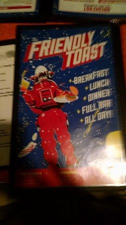 The friendly toast menu
