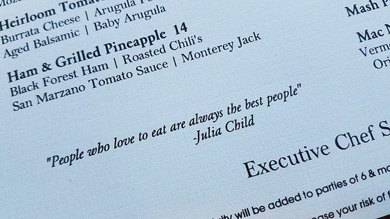 Walker's Grille: Love Julia!