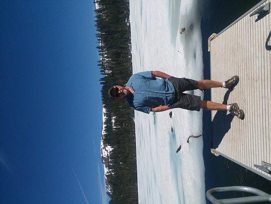 Bear Valley, CA: Lake Alpine still frozen 6/5/17