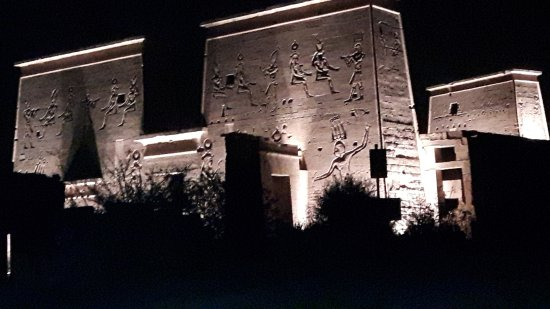 Sound and Light Show - Philae: During Sound and light show
