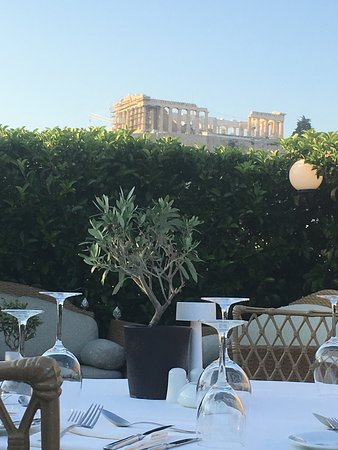 Divani Palace Acropolis: Dinner from the rooftop restaurant