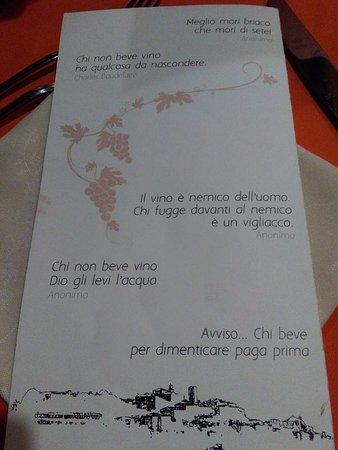 Ristorante La Briciola : pagina del menù