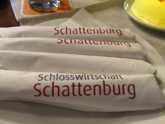 Schlosswirtschaft Schattenburg: tovaglioli personalizzati