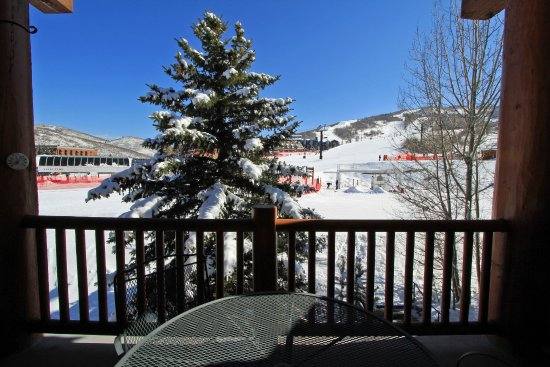 Snow Flower Condominiums: View from a balcony - all condos vary in size, rating and location on-site.