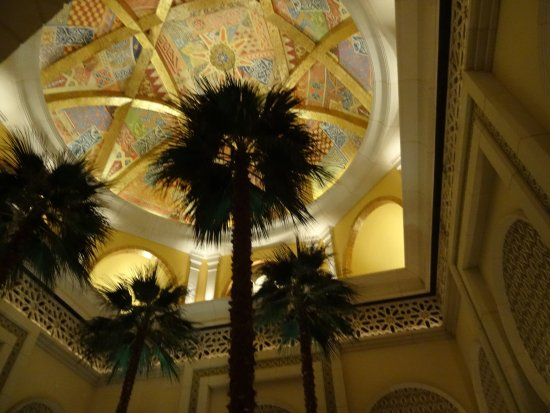 The Palace at One&Only Royal Mirage Dubai: full size palm trees inside the Hotel