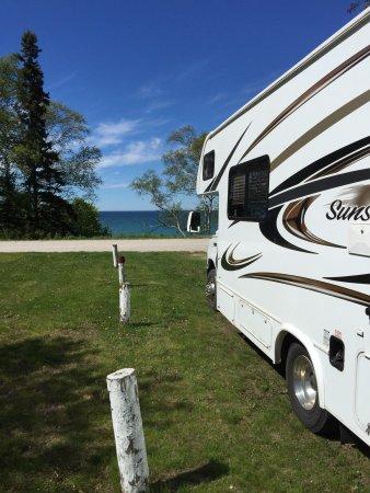 Grand Marais, MI: Campsite right on Lake Superior.