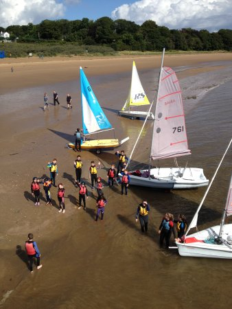 Rathmullan beach, the perfect place to learn to sail!