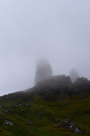 The Old Man of Storr : Old Man of Storr between clouds
