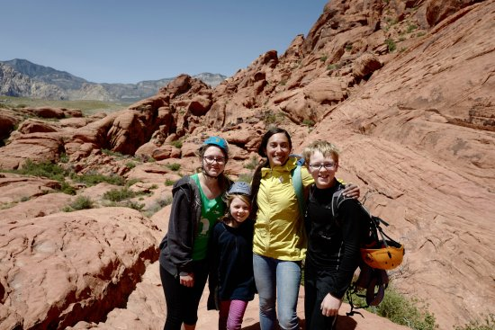 Mountain Skills Rock Guides, LLC: The kids with our amazing instructor, Erin
