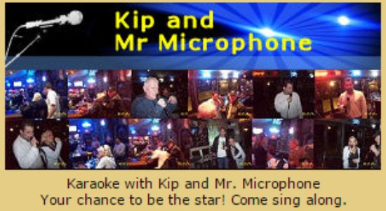 Sunday from 4:00pm to 8:00pm sing a song or 2 at Karaoke with Kip
