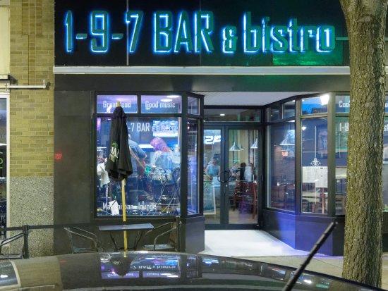 Oswego, NY: front entrance and outside dining area
