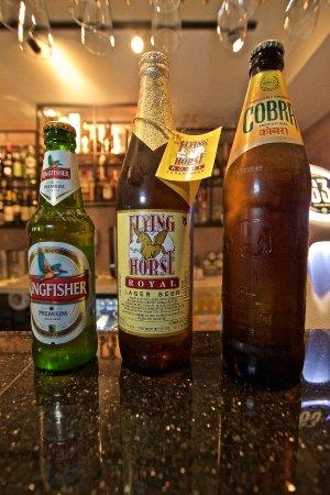 Benares Indisk Restaurant: Indian beers