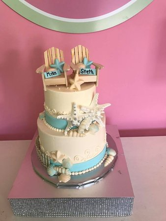 Beach wedding cake picture of sweet in the city sarasota sweet in the city beach wedding cake junglespirit Image collections