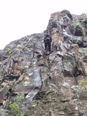 Shenandoah National Park, VA: Rappelling down Little Stony Man