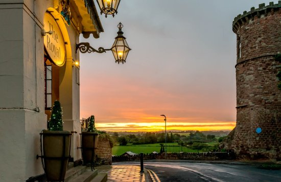 The Royal Hotel: This is a view from the front of the hotel showing an amazing sunset