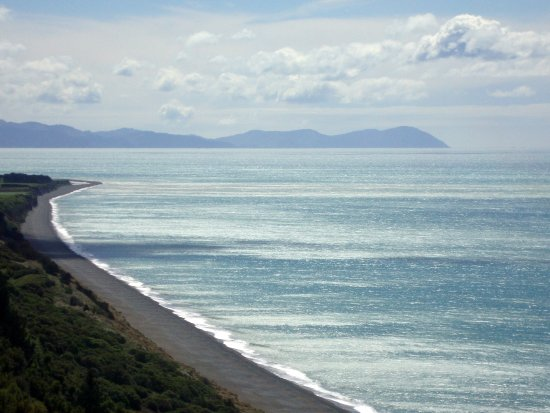 Seddon, New Zealand: View of Cook Strait from Yealands