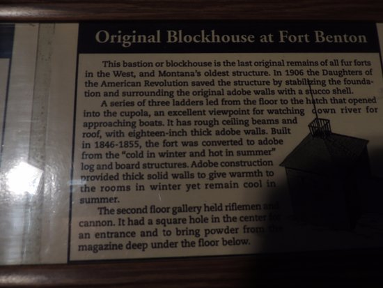 Fort Benton, มอนแทนา: Blockhouse explanation