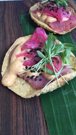 anita li: Las deliciosas tostadas de atún.