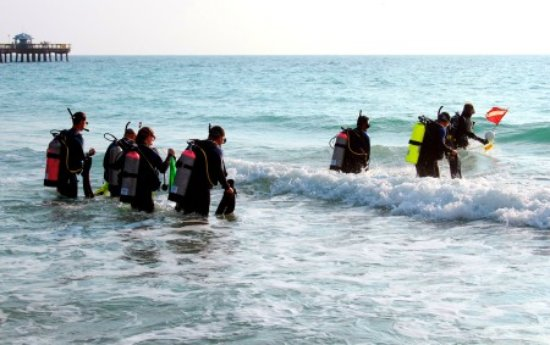 Lauderdale by the Sea, FL: Beach dives are easy in Lauderdale-By-The-Sea