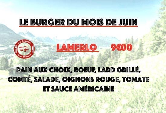 Douvaine, France: burger du mois de juin
