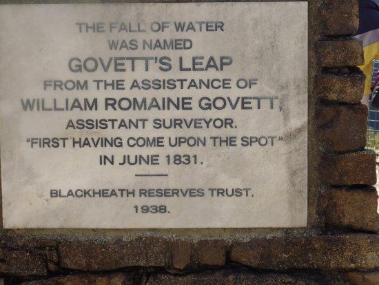 Blackheath, Australia: Plaque..