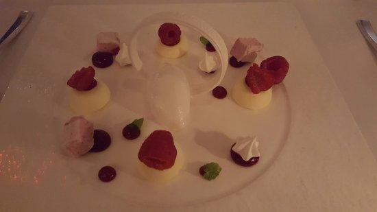 Aureole: Coconut Raspberry Cheesecake