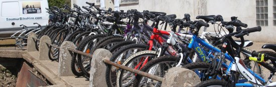 If you are staying in the Saumur area, we can provide a variety of different types of bike for h