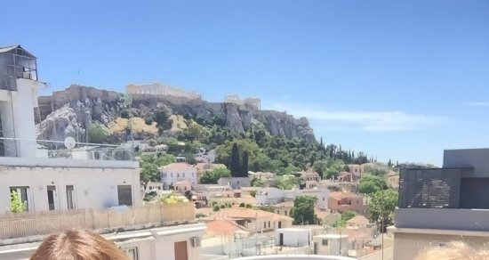 Athos Hotel: The view from the rooftop
