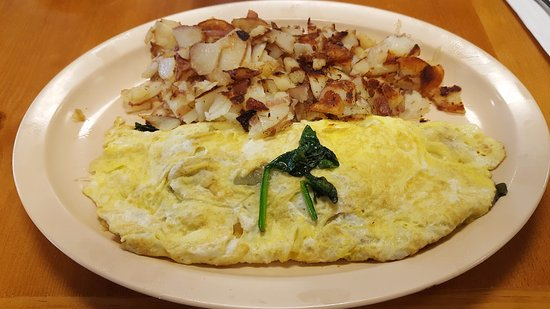 San Jacinto, CA: Spinach Omelet with Home Style Country Potatoes