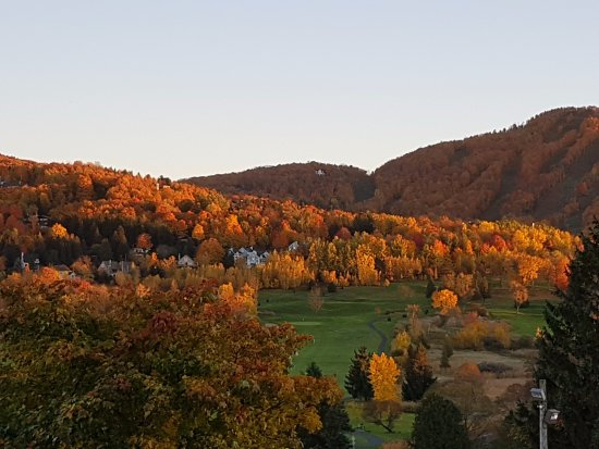 Bromont, Canada: Vivid red/brown colours in Fall