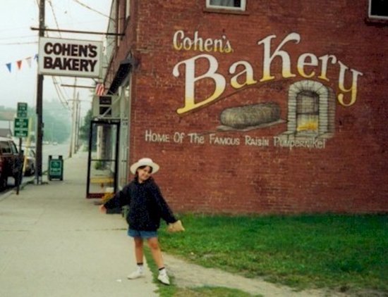 Ellenville, NY: My daughter Michelle Cohen Westmiller in front of original mural