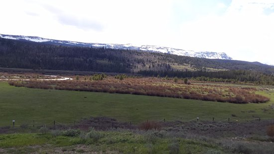 Dubois, WY: back yard views, loved getting back from the parks to just sit and take in the views