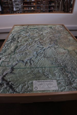 Island In The Sky Visitor Center - topography map