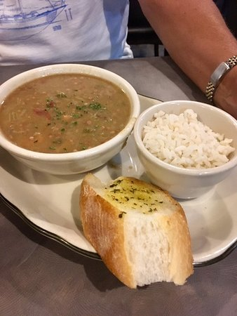 Dempsey's gumbo and French garlic bread is wonderful!