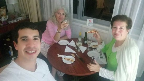 Macleay Hotel : Enjoying my mom and I, with our just graduated son from University of Sydney